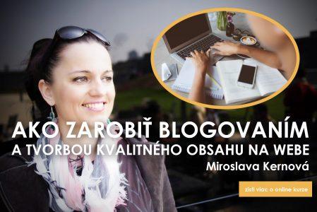 Miroslava Kernová - ako blogovať